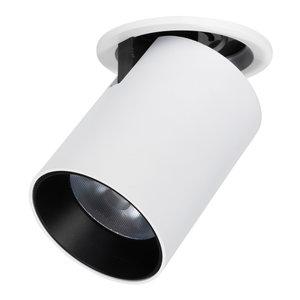 *230Volt Geen Trafo Nodig* Speciaal voor binnen IP 21 Extra Warm Wit 2700 Kelvin 7 Watt vervangt 100 Watt Inbouw Diepte ↕ 35 mm Wit  / Zwarte behuizing kantelbaar en draaibaar