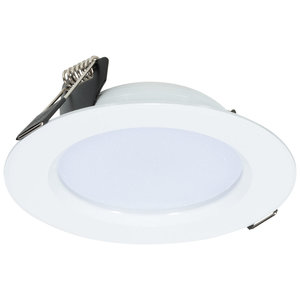 LED Inbouw Spot Dimbaar Badkamer Geschikt IP 44 ***Warm Wit 3000*** Kelvin 5 Watt vervangt 75 Watt Inbouw Diepte ↕ 35 mm Witte behuizing.