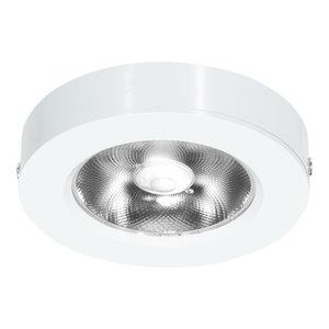 LED Opbouw Spot Dimbaar Badkamer Geschikt IP 44 Extra Warm Wit 2700 Kelvin 7 Watt vervangt 100 Watt Voor Ronde Centraaldoos Opbouw Hoogte ↕ 20 mm Wit