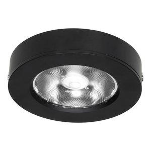 LED Opbouw Spot Dimbaar Badkamer Geschikt IP 44 Extra Warm Wit 2700 Kelvin 7 Watt vervangt 100 Watt Voor Ronde Centraaldoos Opbouw Hoogte ↕ 20 mm Zwart