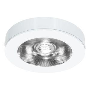 LED Opbouw Spot Dimbaar Badkamer Geschikt IP 44 Extra Warm Wit 2700 Kelvin 7 Watt vervangt 100 Watt Voor Vierkante Centraaldoos Opbouw Hoogte ↕ 20 mm Wit