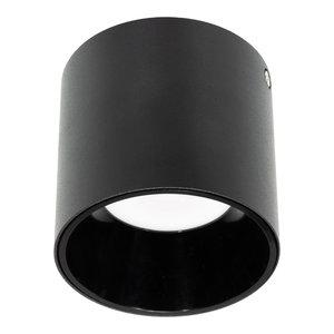 LED Opbouw Spot Dimbaar Badkamer Geschikt IP 44 Extra Warm Wit 2700 Kelvin 10 Watt vervangt 150 Watt Zwart