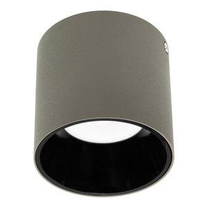 LED Opbouw Spot Dimbaar Badkamer Geschikt IP 44 Extra Warm Wit 2700 Kelvin 10 Watt vervangt 150 Watt Grijs / Zwart