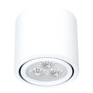 Dimbare cilinder vormige LED opbouw spot 3 watt in witte behuizing.