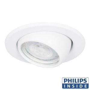 Philips LED Inbouw spot 4 watt kantelbare bol 50 mm rond wit
