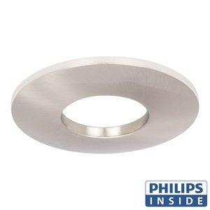 Philips LED Inbouw spot 4 watt niet kantelbaar badkamer rond aluminium mat IP44