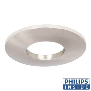 Philips Dim Tone LED Inbouw spot 4,9 watt niet kantelbaar badkamer rond aluminium mat IP44