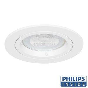 Philips LED Inbouw spot 5 watt niet kantelbaar rond wit