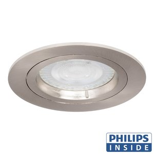 Philips LED Inbouw spot 5 watt niet kantelbaar rond aluminium mat