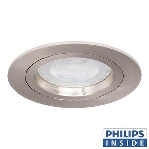 Philips Dim Tone LED Inbouw spot 4,9 watt rond aluminium mat niet kantelbaar