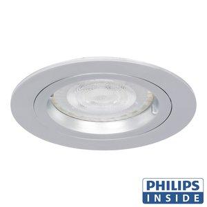 Philips LED Inbouw spot 4 watt rond chrome niet kantelbaar