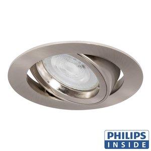 Philips LED Inbouw spot 4 watt rond aluminium mat kantelbaar modern