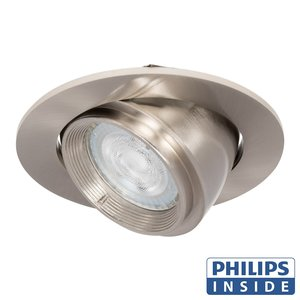 Philips LED Inbouw spot 5 watt kantelbare 50 mm rond aluminium mat