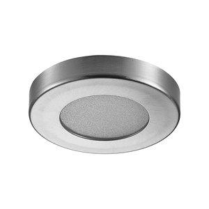 LED Opbouw Spot Dimbaar Badkamer Geschikt IP 44  Extra Warm Wit 2700 Kelvin 3 Watt vervangt 50 Watt Opbouw Hoogte ↕ 10 mm Nikkel
