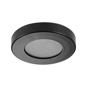 LED Opbouw Spot Dimbaar Badkamer Geschikt IP 44  Extra Warm Wit 2700 Kelvin 3 Watt vervangt 50 Watt Opbouw Hoogte ↕ 10 mm Zwart