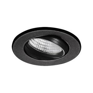 LED Inbouw Spot Dimbaar Badkamer Geschikt IP 44 Extra Warm Wit 2700 Kelvin 3 Watt vervangt 50 Watt Inbouw Diepte ↕ 25 mm Zwarte behuizing.