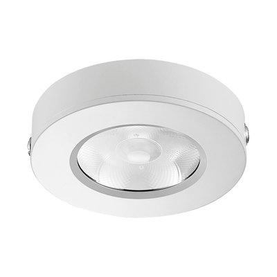 LED Opbouw Spot Dimbaar Badkamer Geschikt IP 44 Extra Warm Wit 2700 Kelvin 5 Watt vervangt 75 Watt Opbouw Hoogte ↕ 20 mm Witte behuizing.