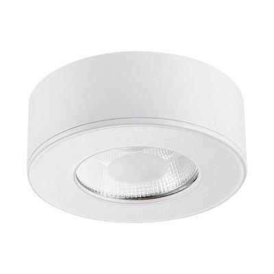 LED Opbouw Spot Dimbaar Badkamer Geschikt IP 44 Extra Warm Wit 2700 Kelvin 5 Watt vervangt 75 Watt Opbouw Hoogte ↕ 30 mm Witte behuizing.