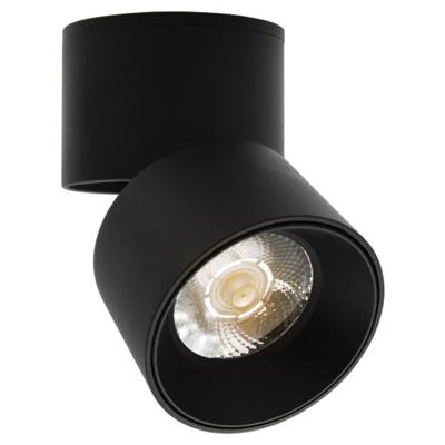 LED Opbouw Spot Dimbaar Badkamer Geschikt IP 44 Extra Warm Wit 2700 Kelvin 5 Watt vervangt 75 Watt Opbouw Hoogte ↕ 95 mm Zwarte behuizing.