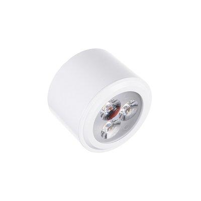 Lage dimbare cilinder vormige LED opbouw spot 3 watt in witte behuizing, niet kantelbaar