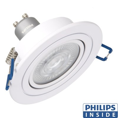 Led Inbouw spot 4,9 watt kantelbaar 50 mm rond wit