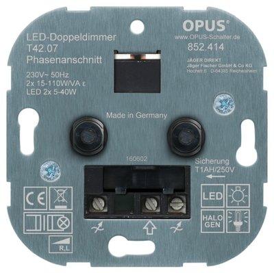 OPUS® DUO LED dimmer twee keer minimale belasting 3 watt maximale belasting  40 watt