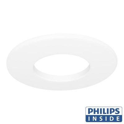 Philips LED Inbouw spot 4 watt niet kantelbaar badkamer rond wit IP44
