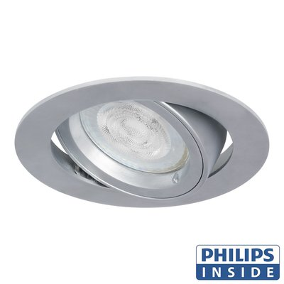 Philips LED Inbouw spot 5 watt rond chrome kantelbaar modern
