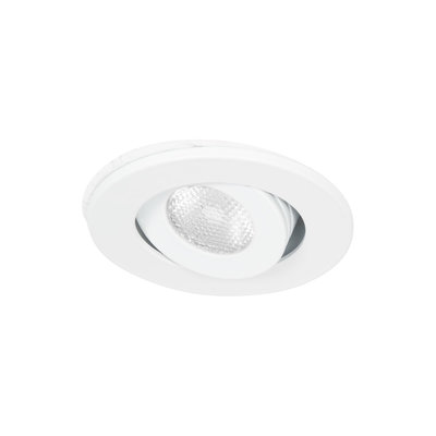Niet dimbare mini LED inbouwspot 3 watt wit kantelbaar warm wit IP44