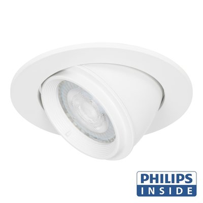 Philips Dim Tone LED Inbouw spot 4,9 watt kantelbare 50 mm rond wit