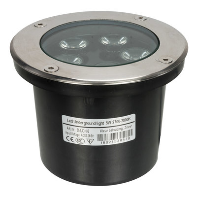 LED grondspot 5 watt zilver IP65