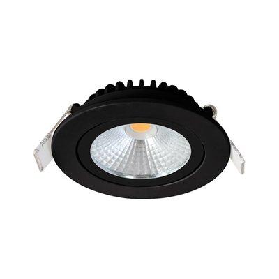 LED Inbouw Spot Dimbaar Badkamer Geschikt IP 44 Extra Warm Wit 2700 Kelvin 5 Watt vervangt 75 Watt  Inbouw Diepte ↕ 23 mm   Zwarte behuizing. | Geen trafo nodig.