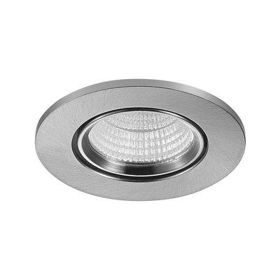 LED Inbouw Spot Dimbaar Badkamer Geschikt IP 44 Extra Warm Wit 2700 Kelvin 3 Watt vervangt 50 Watt Inbouw Diepte ↕ 25 mm Nikkel behuizing.