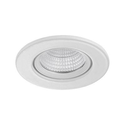 LED Inbouw Spot Dimbaar Badkamer Geschikt IP 44 Extra Warm Wit 2700 Kelvin 3 Watt vervangt 50 Watt Inbouw Diepte ↕ 25 mm Witte behuizing.