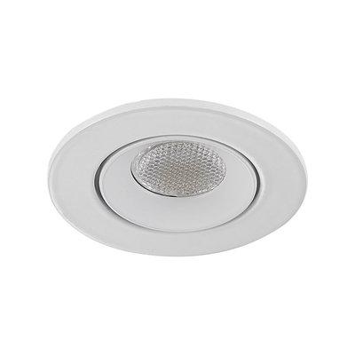 LED Inbouw Spot Dimbaar Badkamer Geschikt IP 44 Extra Warm Wit 2700 Kelvin 3 Watt vervangt 50 Watt Inbouw Diepte ↕ 35 mm Witte behuizing.