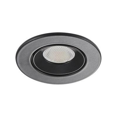 LED Inbouw Spot Dimbaar Badkamer Geschikt IP 44 Extra Warm Wit 2700 Kelvin 3 Watt vervangt 50 Watt Inbouw Diepte ↕ 35 mm Zwarte behuizing.