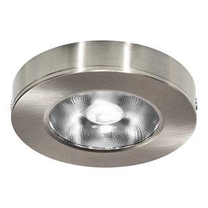 LED Opbouw Spot Dimbaar Badkamer Geschikt IP 44 Extra Warm Wit 2700 Kelvin 7 Watt vervangt 100 Watt Voor Ronde Centraaldoos Opbouw Hoogte ↕ 20 mm Nikkel