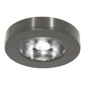 LED Opbouw Spot Dimbaar Badkamer Geschikt IP 44 Extra Warm Wit 2700 Kelvin 7 Watt vervangt 100 Watt Voor Ronde Centraaldoos Opbouw Hoogte ↕ 20 mm Grijs