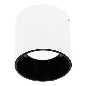 LED Opbouw Spot Dimbaar Badkamer Geschikt IP 44 Extra Warm Wit 2700 Kelvin 10 Watt vervangt 150 Watt Wit / Zwart
