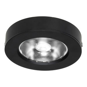 LED Opbouw Spot Dimbaar Badkamer Geschikt IP 44 Extra Warm Wit 2700 Kelvin 7 Watt vervangt 100 Watt Opbouw Hoogte ↕ 20 mm Zwart