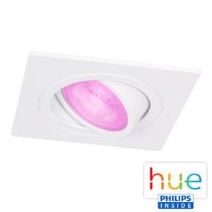 HUE Philips White & Color GU10 LED Inbouw spot Vierkant Inês Wit