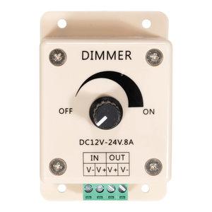 LED Opbouw Dimmer met draaiknop 12 - 24 Volt