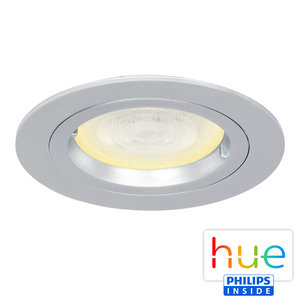 HUE Philips Ambiance GU10 LED Inbouw Spot Amsterdam Zilver Grijs