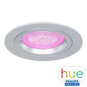 HUE Philips White & Color GU10 LED Inbouw Spot Amsterdam Zilver Grijs