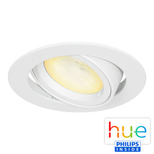 HUE Philips Ambiance GU10 LED Inbouwspot Madrid Wit