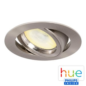 HUE Philips Ambiance GU10 LED Inbouwspot Madrid Satijn Nikkel