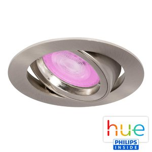HUE Philips White & Color GU10 LED Inbouwspot Madrid Satijn Nikkel