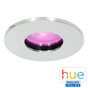 HUE Philips White & Color GU10 LED Inbouwspot Elisa Chroom