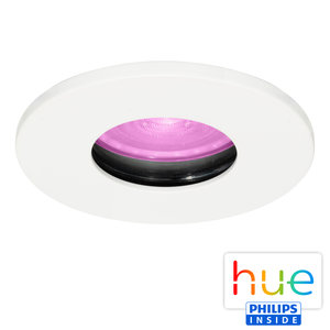 HUE Philips White & Color GU10 LED Inbouwspot Elisa Wit