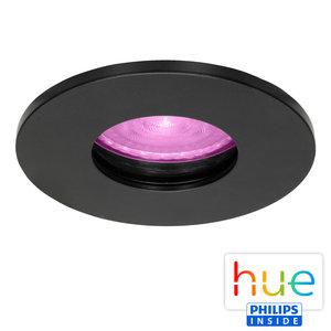 HUE Philips White & Color GU10 LED Inbouwspot Elisa Zwart